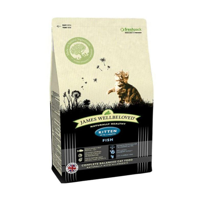 James Wellbeloved Complete Dry Kitten Food Fish and Rice 1.5kg
