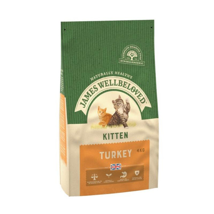 James Wellbeloved Complete Dry Kitten Food Turkey and Rice 4 kg