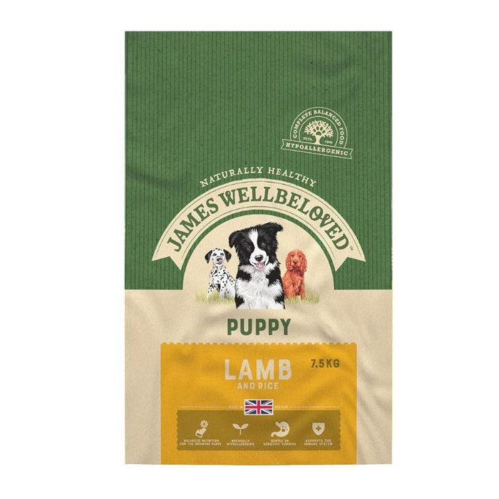 James Wellbeloved Complete Puppy Food with Lamb & Rice 7.5kg