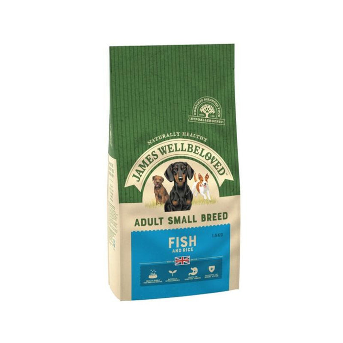 James Wellbeloved Fish and Rice Small Breed Adult 1.5kg