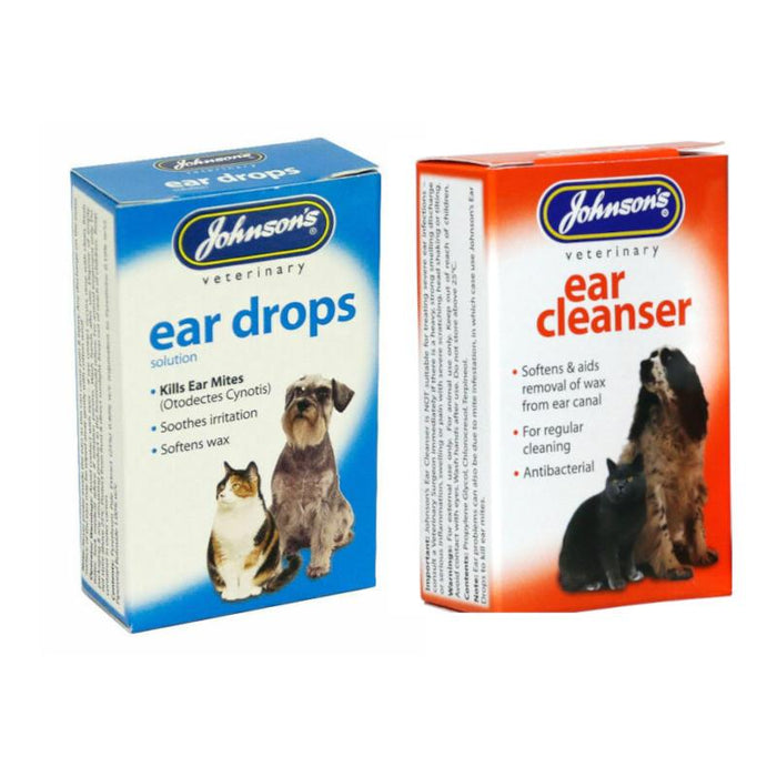 Johnsons Ear Cleanser And Ear Drops Set