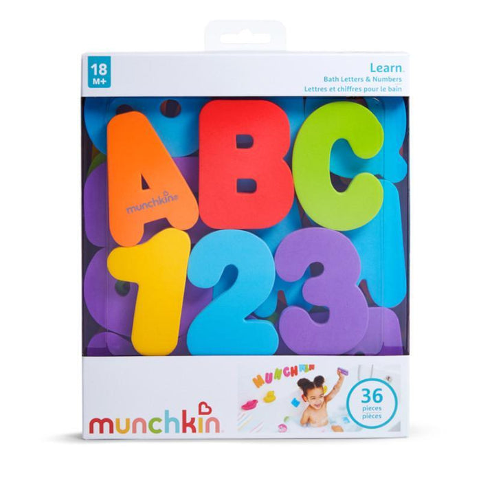 Munchkin Learning Bath Letters & Numbers 36 Piece Set