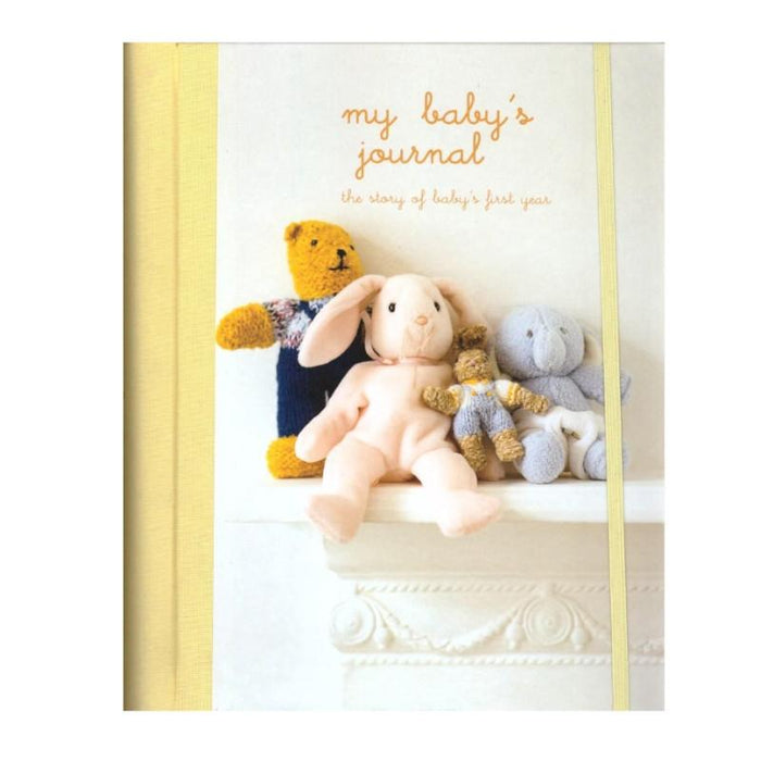 My Baby's Journal Keepsake Book Unisex - Yellow