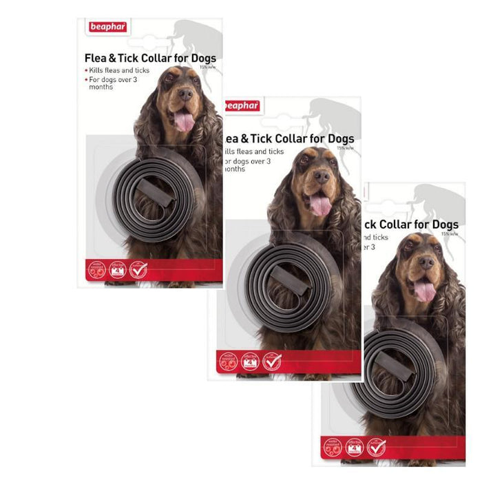 Beaphar Waterproof Dog Flea and Tick Collar x 3 Pack