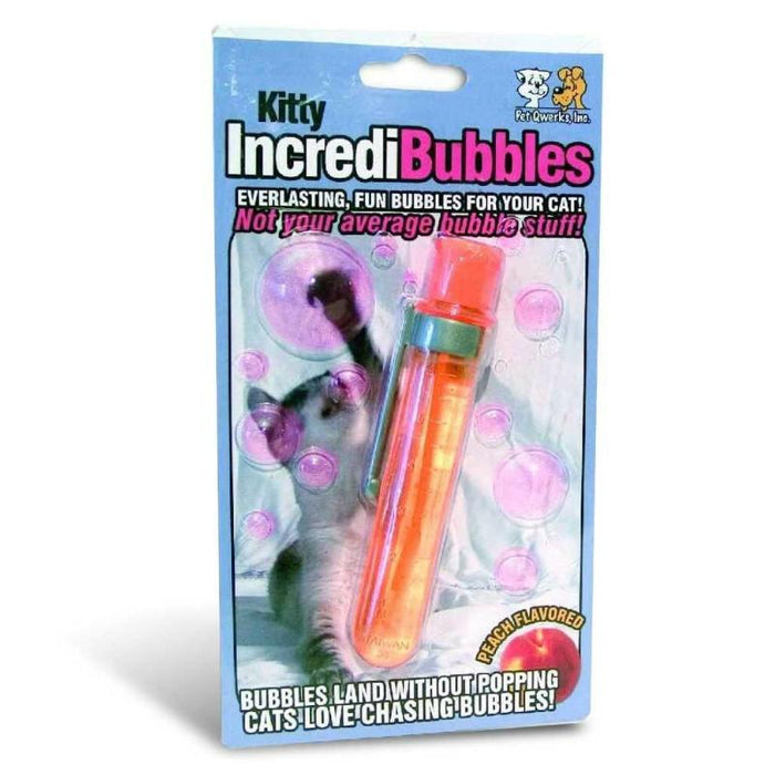 Pet Qwerks Kitty Incredibubbles Peach Flavoured Bubbles