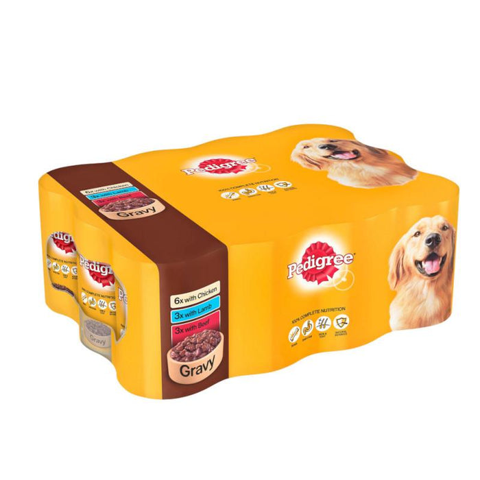 Pedigree Mixed Selection in Gravy Tinned Dog Food 12 x 400g