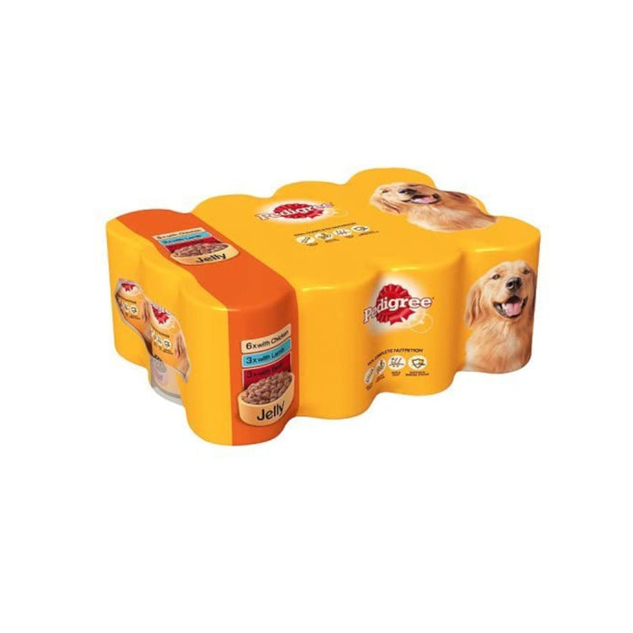 Pedigree Mixed Selection in Jelly Tinned Dog Food 24 x 400g