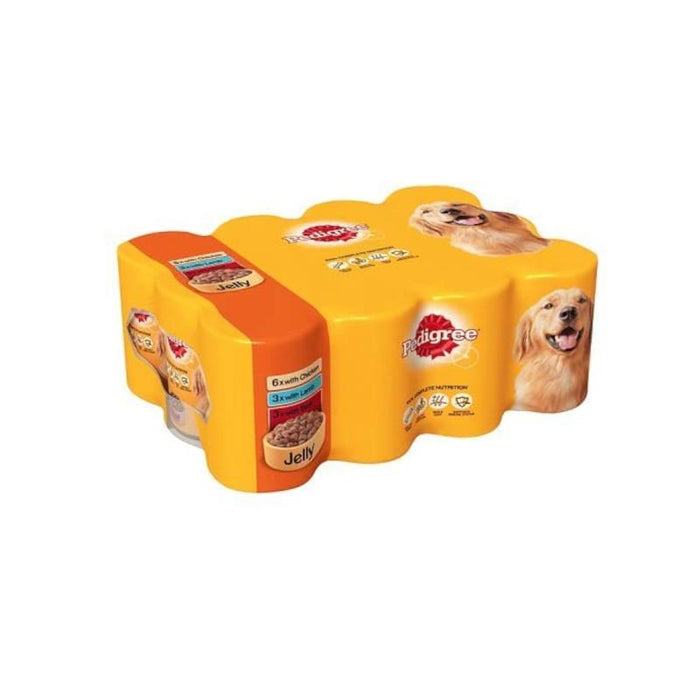 Pedigree Mixed Selection in Jelly Tinned Dog Food 12 x 400g