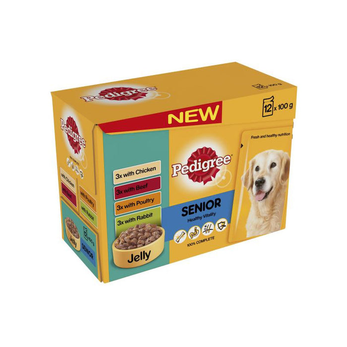 Pedigree Pouch Senior Meat Selection In Jelly 72 x 100g