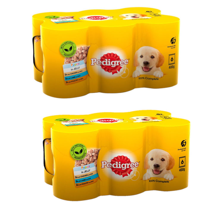 Pedigree Puppy Tins Meat in Jelly 12 x 400g
