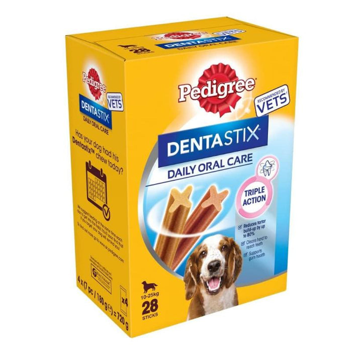 Pedigree DentaStix Daily Dental Chews Medium Dog 28 Sticks