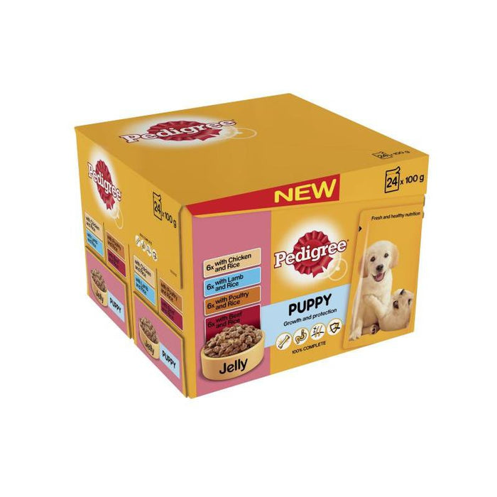 Pedigree Puppy Pouches Meat In Jelly 24 x 100g
