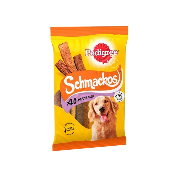 Pedigree Schmackos Meat Variety 20 Sticks x 9