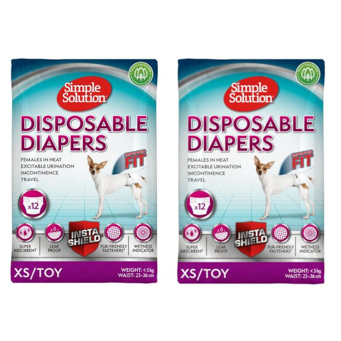 Simple Solution Disposable Diaper Twin Pack Various Sizes