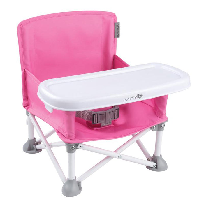 Summer Infant Pop N Sit Folding Booster- Pink