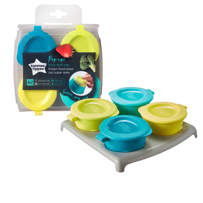 Tommee Tippee Explora 4 Pop Up Freezer Pots & Tray
