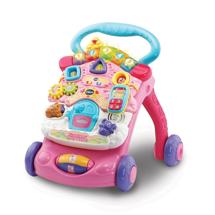 VTech First Steps Baby & Toddler Push Along Walker - Pink