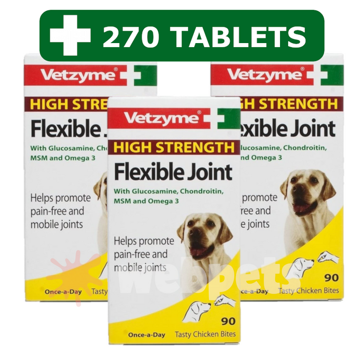 Vetzyme High Strength Flexible Joint With Glucosamine - 270 Tablets