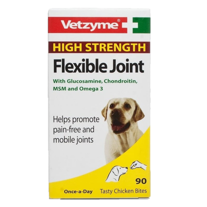 Vetzyme High Strength Flexible Joint With Glucosamine - 90 Tablets