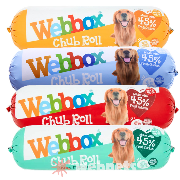 Webbox 720G Chub Rolls Wet Dog Food Assorted Flavours x 15