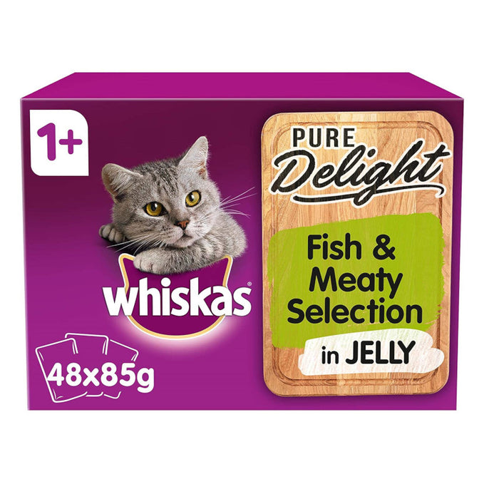 Whiskas 1+ Cat Pouch Pure Delight Meat & Fish 48 x 85g