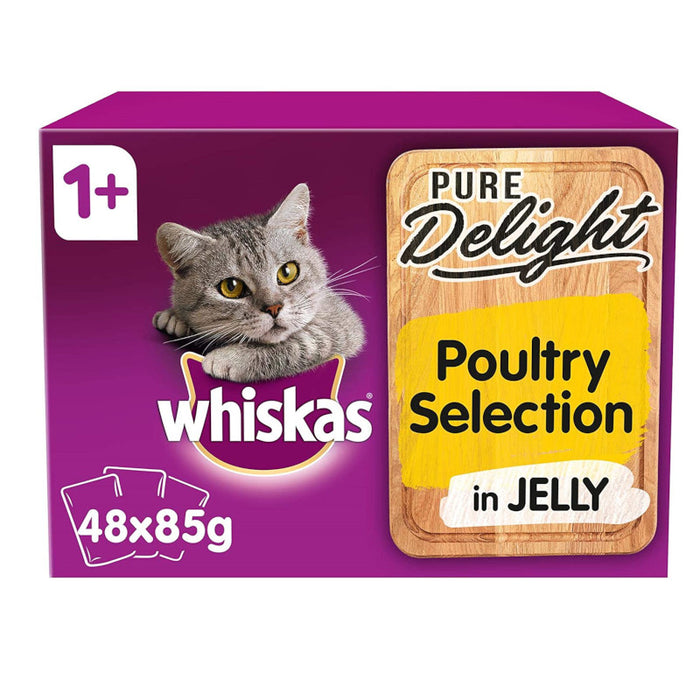 Whiskas 1+ Cat Pouch Pure Delight Poultry 12 x 85g