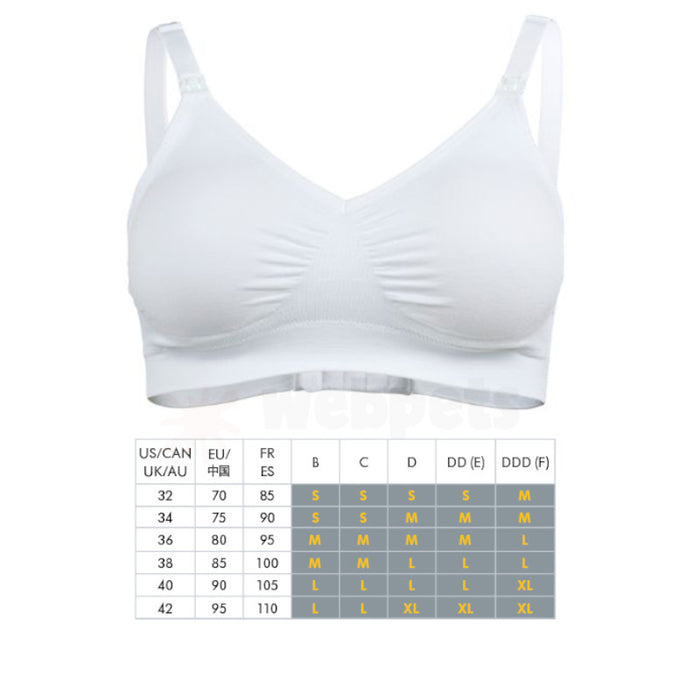 Medela Seamless Comfy Bra White Various Sizes