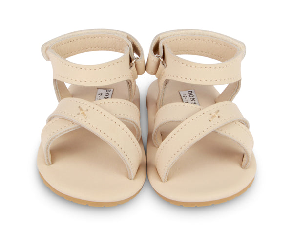 Cream Leather Sandals Giggles By Donsje