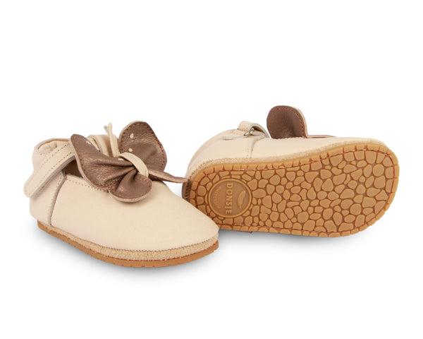 Ems Butterfly Cream Leather Baby Shoes
