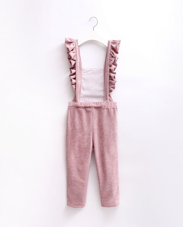 Rose Pink Frill Dungarees