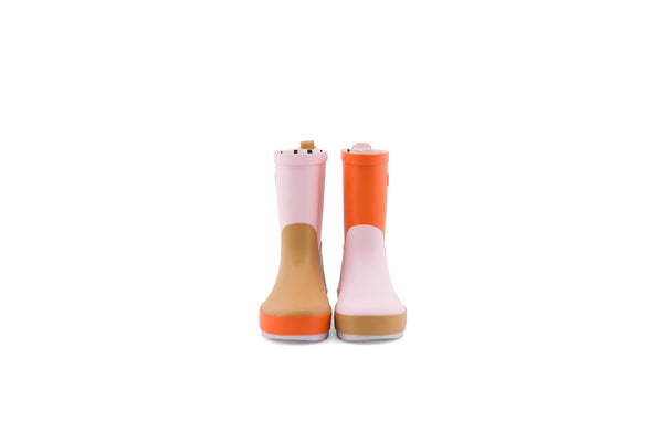 Sticky Lemon three tones pink rain boots