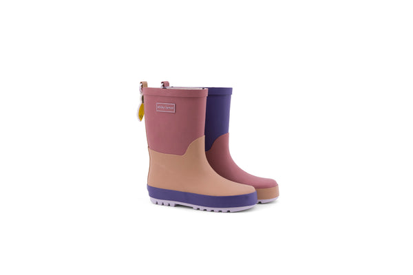 Sticky Lemon three tones purple rain boots
