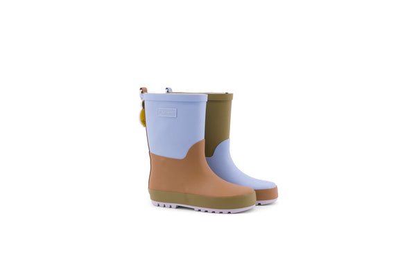 Sticky Lemon three tones blue rain boots