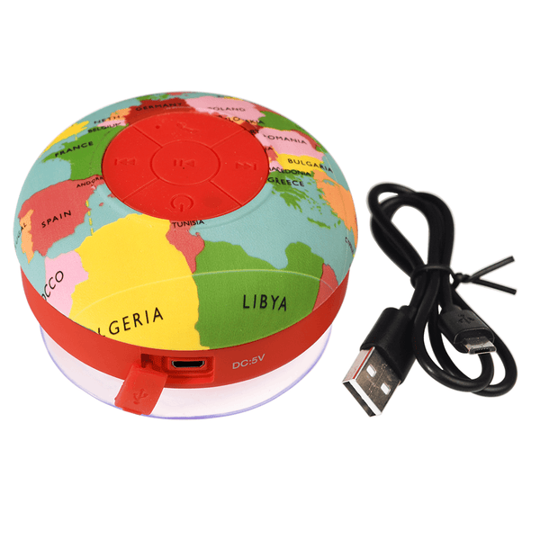 World Map Bluetooth Shower Speaker
