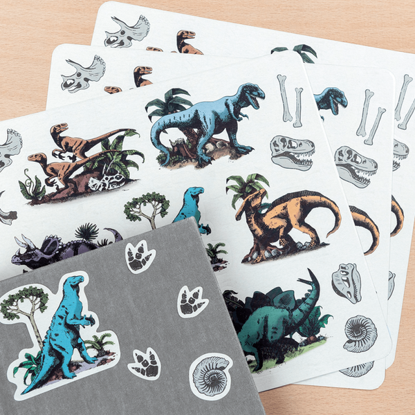 Prehistoric Land Sticker Sheet  ( pack of 3)