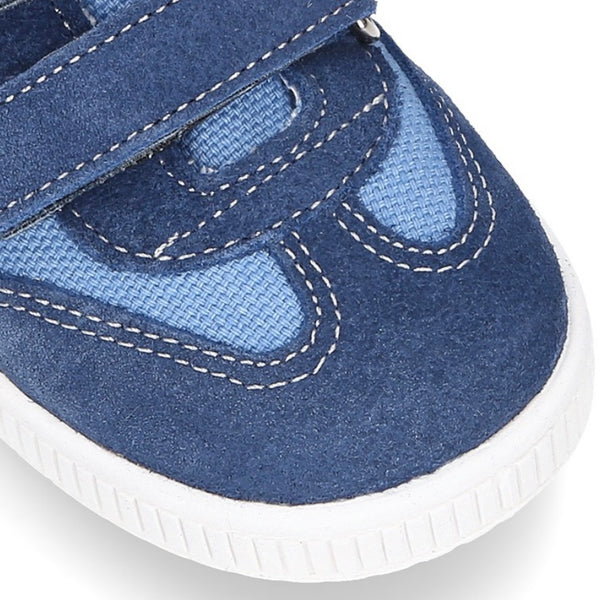 Suede Leather Tennis Shoe with Laces - Jeans