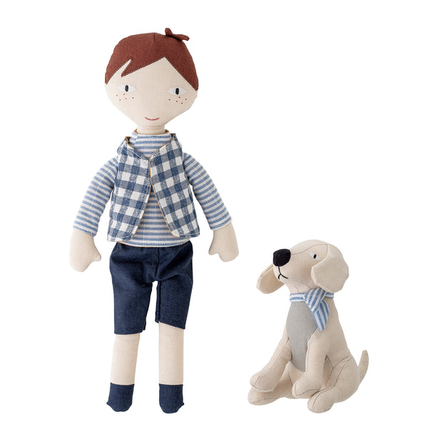 Hilbert And A Puppy Linen Doll Set
