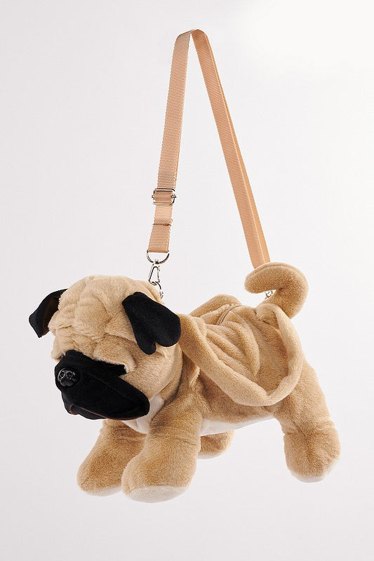 Beige Pug Shoulder Bag