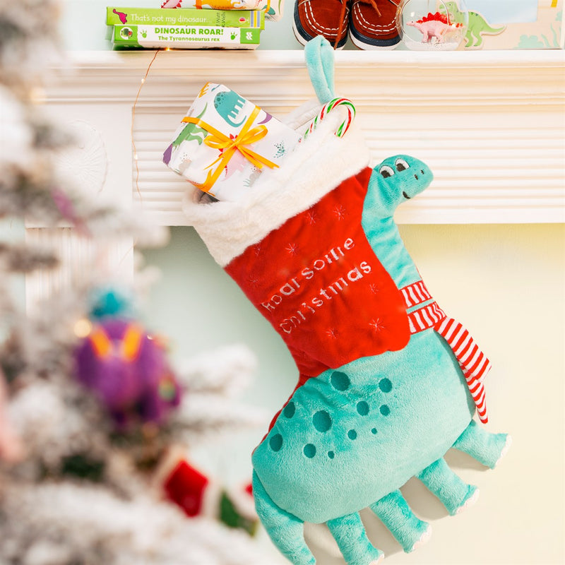 Roarsome Dinosour Christmas Stocking