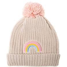 Dreamy Rainbow Bobble Hat