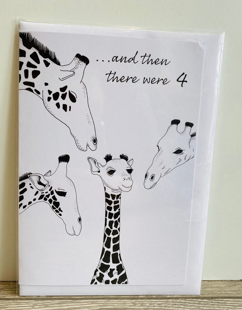 Hand Made New Baby Card - And Then There Were.........