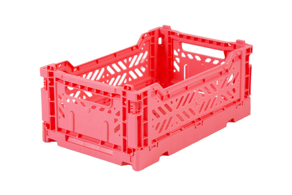 Folding Crate Medium in Dark Pink