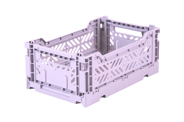 Folding Crate Small In Orchid