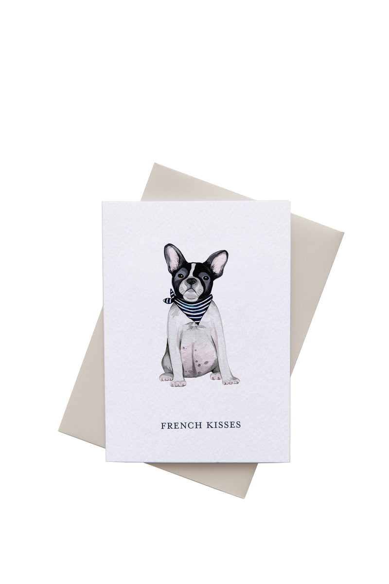 Frenchie Kisses Card