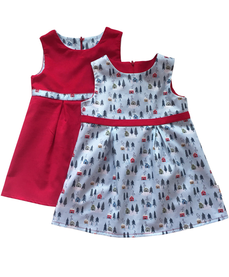 Snowy Day Reversible Dress