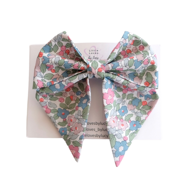 Liberty Print Betsy Berry Sailor Bow Clip