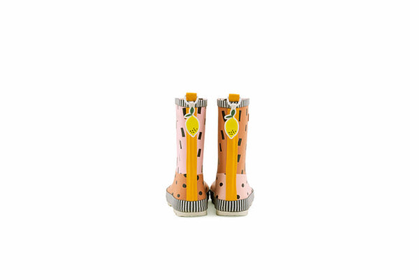 Sticky Lemon Rain boots | candy pink + faded orange + carrot orange