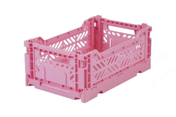 Folding Crate Medium in Baby Pink