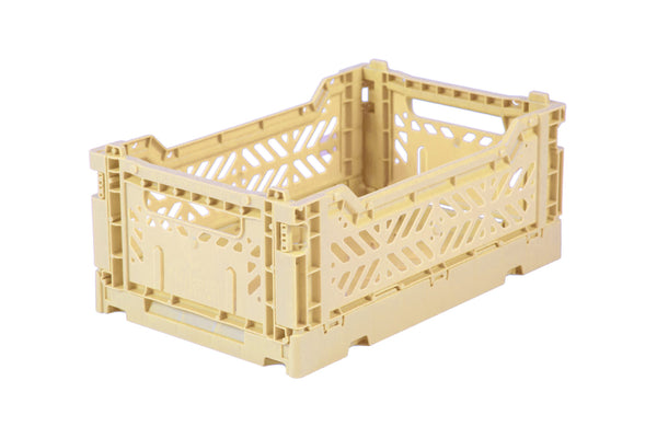 Folding Crate Small in Banana