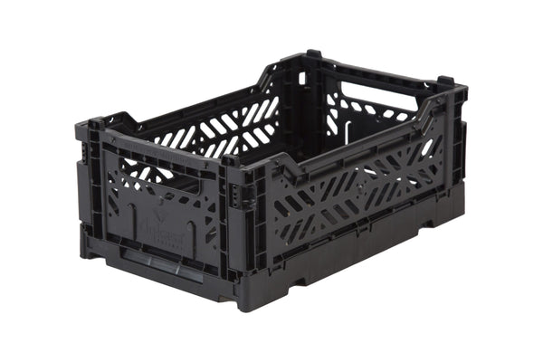 Folding Crate Medium in Black